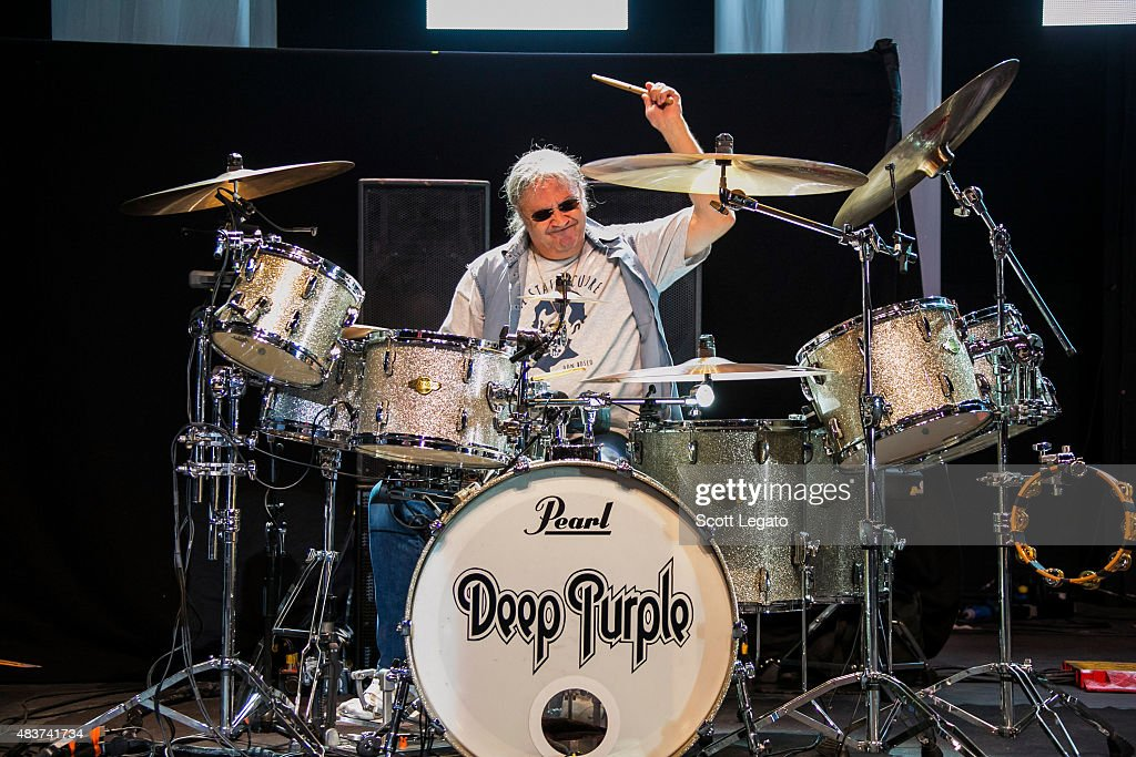 Ian Paice of Deep Purple performs at Freedom Hill Amphitheater on August 4, 2015 in Sterling Heights, Michigan.