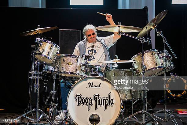 Ian Paice of Deep Purple performs at Freedom Hill Amphitheater on August 4 2015 in Sterling Heights Michigan