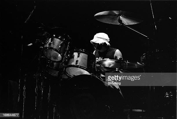 Ian Paice of Deep Purple performs on stage on the Perfect Strangers World Tour at the Entertainment Centre Sydney 12th December 1984