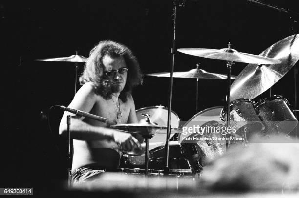 Ian Paice playing drums with Deep Purple at Nippon Budokan December 15th 1975