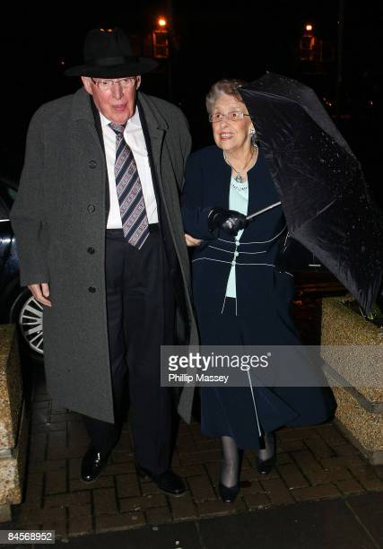 Ian Paisley and his wife Eileen Paisley arrive at the Late Late Show on January 30 2009 in Dublin Ireland