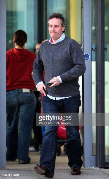 Ian Paisley Jnr leaves the Ulster Hospital in Dundonald where his father The Rev Ian Paisley remains seriously ill in hospital