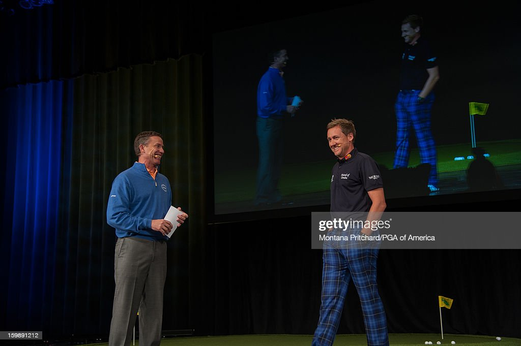 Ian Poulter and Michael Breed speak during the 'Preparation & Execution to Compete at the Highest Level' lecture during the 13th PGA Teaching and Coaching Summit held at the Orange County Convention Center on January 22, 2013 in Orlando, Florida.