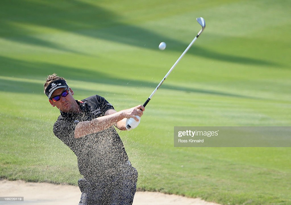<a gi-track='captionPersonalityLinkClicked' href=/galleries/search?phrase=Ian+Poulter&family=editorial&specificpeople=171444 ng-click='$event.stopPropagation()'>Ian Poulter</a> of England during the second round of the WGC HSBC Champions at the Mission Hills Resort on November 2, 2012 in Shenzhen, China.