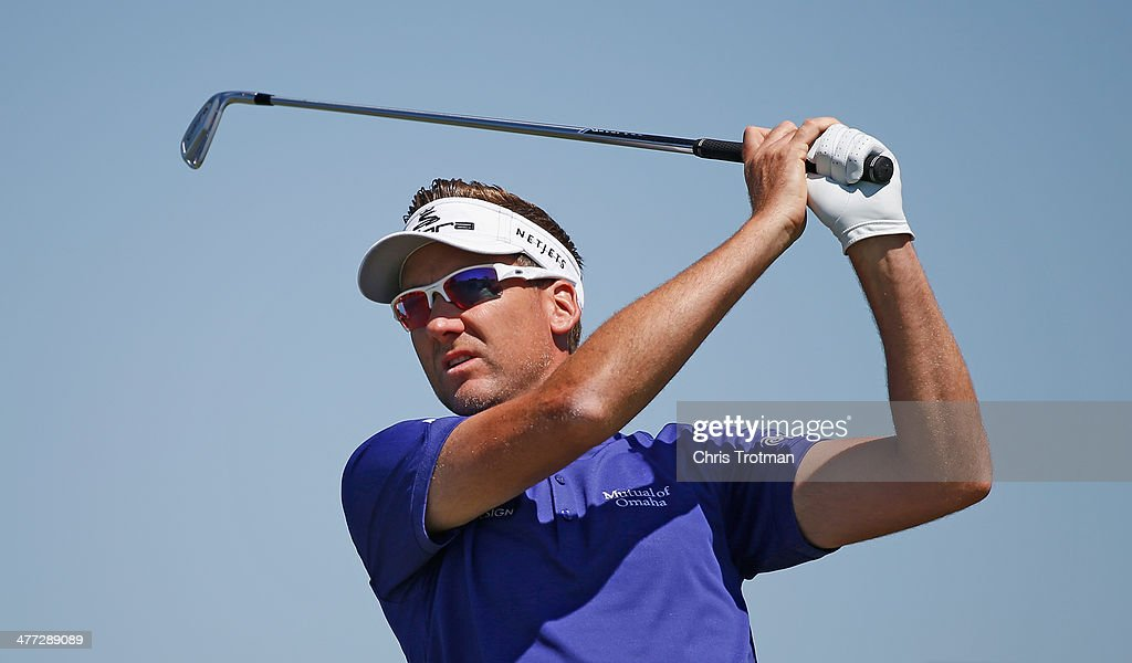 <a gi-track='captionPersonalityLinkClicked' href=/galleries/search?phrase=Ian+Poulter&family=editorial&specificpeople=171444 ng-click='$event.stopPropagation()'>Ian Poulter</a> of England hits his tee shot on the second hole during the third round of the World Golf Championships-Cadillac Championship at Trump National Doral on March 8, 2014 in Doral, Florida.