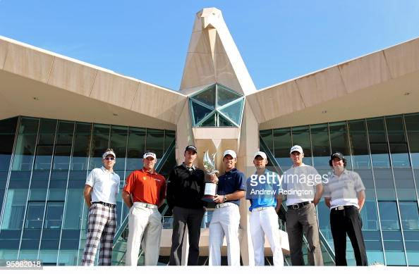 Ian Poulter of England Lee Westwood of England Geoff Ogilvy of Australia defending champion Paul Casey of England Anthony Kim of the USA Martin...