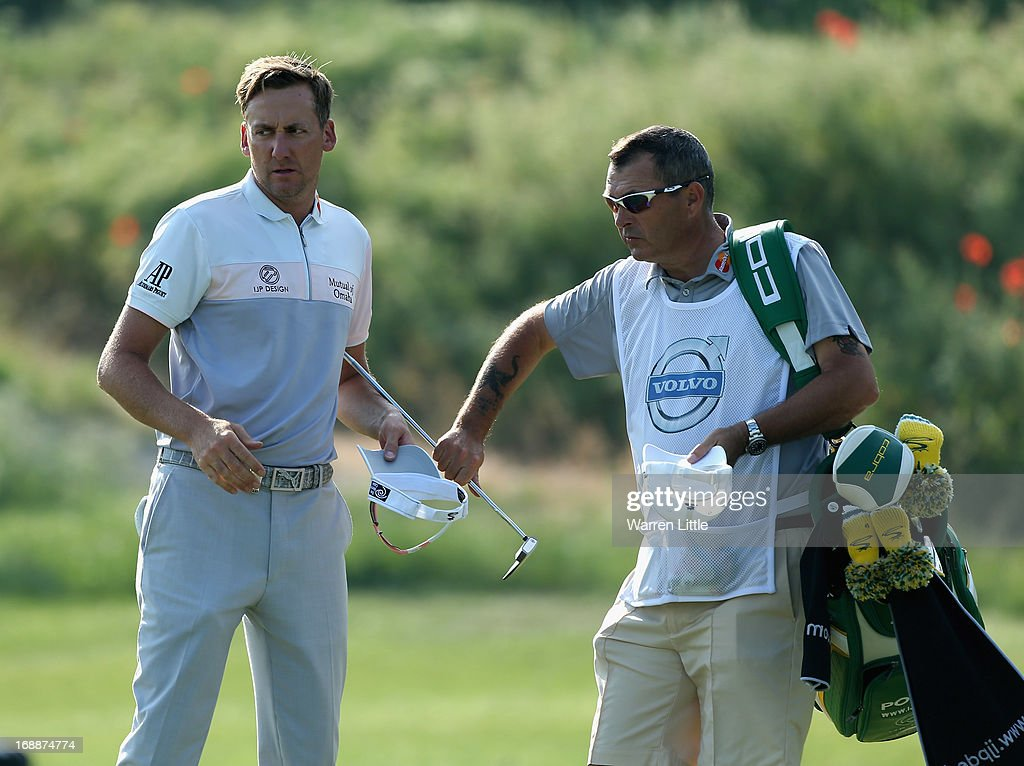 Ian Poulter of England looks on after losing his match on day one of the Volvo World Match Play Championship at Thracian Cliffs Golf & Beach Resort on May 16, 2013 in Kavarna, Bulgaria.