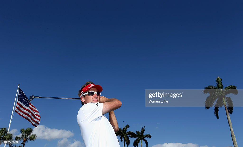 <a gi-track='captionPersonalityLinkClicked' href=/galleries/search?phrase=Ian+Poulter&family=editorial&specificpeople=171444 ng-click='$event.stopPropagation()'>Ian Poulter</a> of England poses for a picture ahead of the WGC - Cadillac Championship at the Doral Golf Resort & Spa on March 6, 2013 in Miami, Florida.