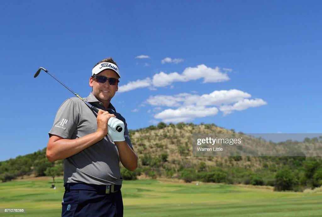 Ian Poulter of England poses of a picture on the range at the Lost City ahead of the Nedbank Golf Challenge at Gary Player CC on November 7, 2017 in Sun City, South Africa.