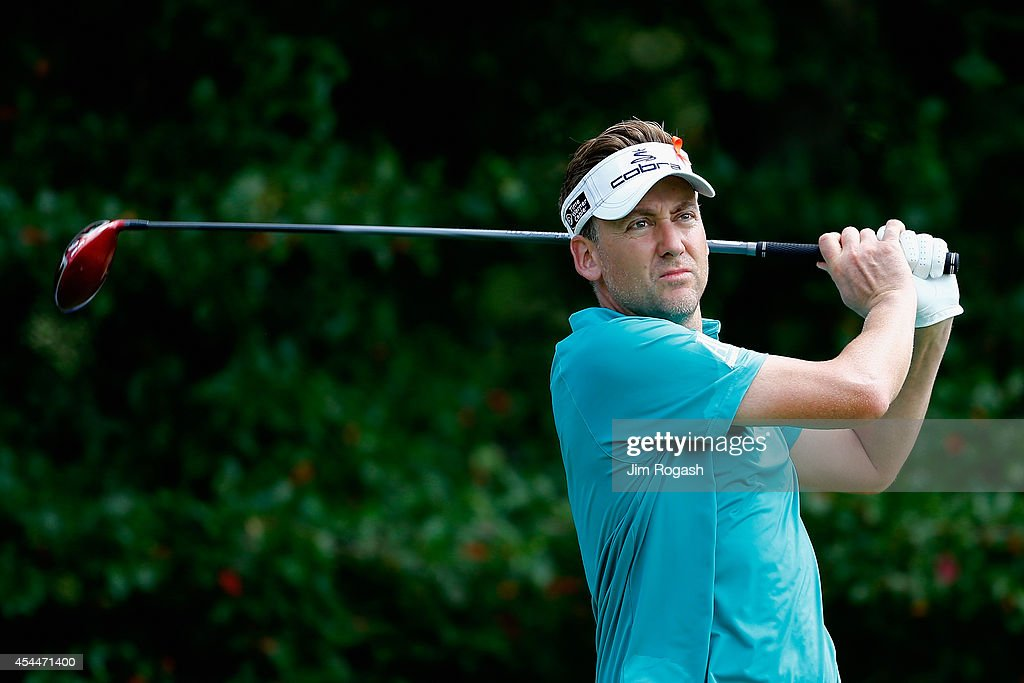 <a gi-track='captionPersonalityLinkClicked' href=/galleries/search?phrase=Ian+Poulter&family=editorial&specificpeople=171444 ng-click='$event.stopPropagation()'>Ian Poulter</a> of England tees off on the fourth hole during the final round of the Deutsche Bank Championship at the TPC Boston on September 1, 2014 in Norton, Massachusetts.