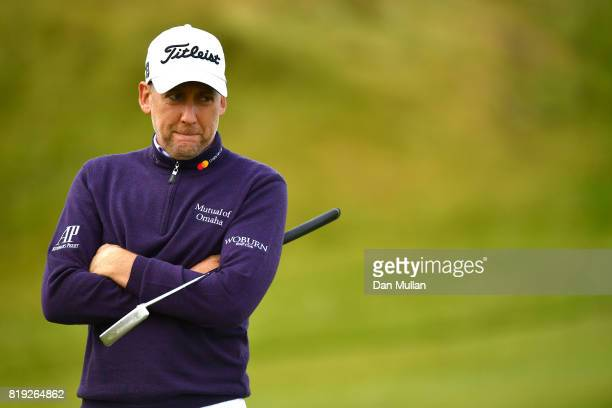 Ian Poulter of England waits on the 3rd green during the first round of the 146th Open Championship at Royal Birkdale on July 20 2017 in Southport...