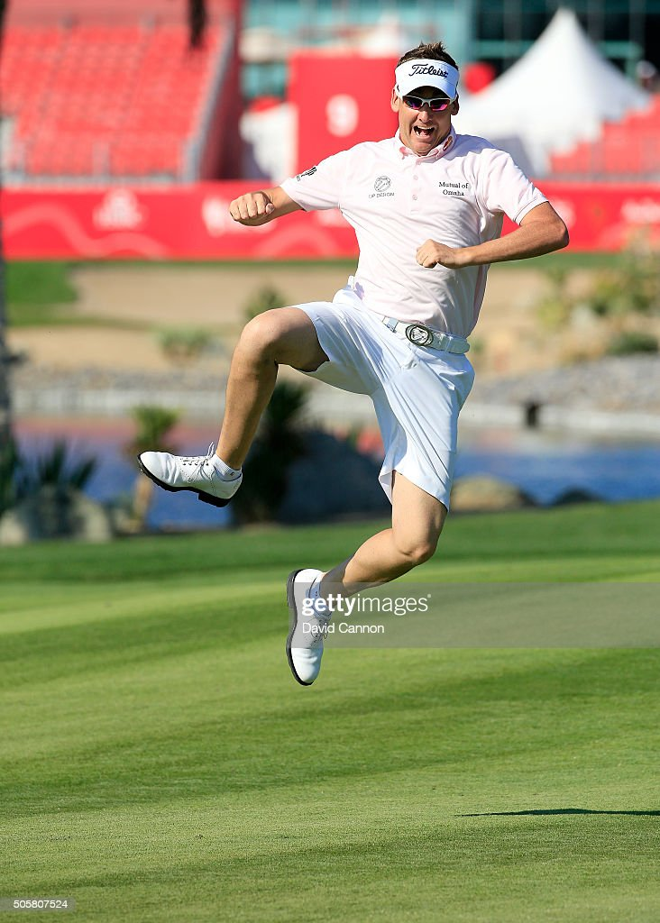 <a gi-track='captionPersonalityLinkClicked' href=/galleries/search?phrase=Ian+Poulter&family=editorial&specificpeople=171444 ng-click='$event.stopPropagation()'>Ian Poulter</a> of Englands enjoying the freedom of being allowed to wear shorts during the pro-am as a preview for the 2016 Abu Dhabi HSBC Golf Championship at the Abu Dhabi Golf Club on January 20, 2016 in Abu Dhabi, United Arab Emirates.