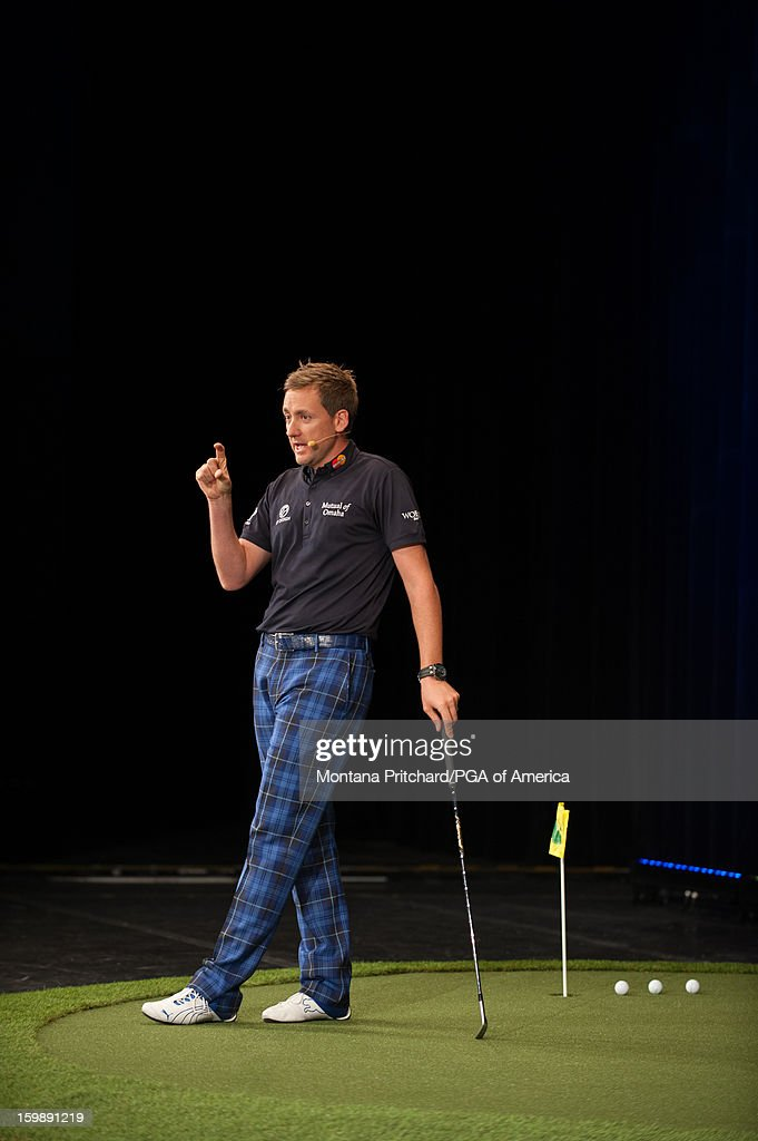 Ian Poulter speaks during the 'Preparation & Execution to Compete at the Highest Level' lecture during the 13th PGA Teaching and Coaching Summit held at the Orange County Convention Center on January 22, 2013 in Orlando, Florida.