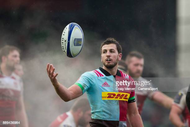 Ian Prior of Harlequins during the European Rugby Champions Cup match between Harlequins and Ulster Rugby at Twickenham Stoop on December 10 2017 in...