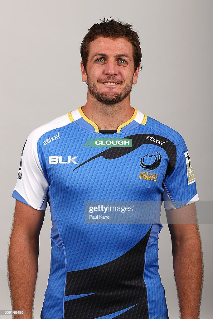 Ian Prior poses during the Western Force 2016 Super Rugby headshots session on February 9, 2016 in Perth, Australia.