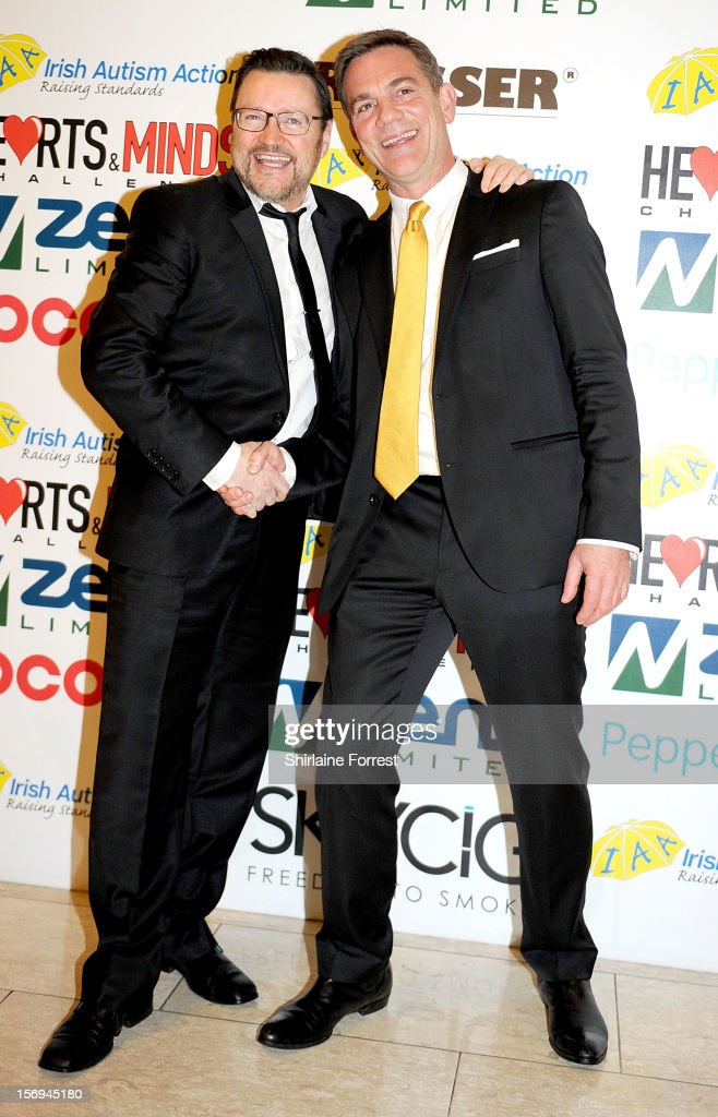 Ian Puleston-Davies and John Michie attend the Hearts and Minds charity ball at Hilton Hotel on November 25, 2012 in Manchester, England.