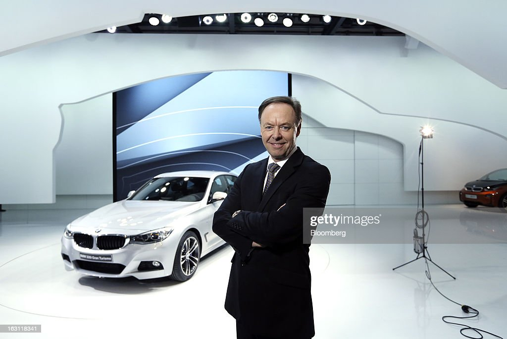 Ian Robertson, head of sales and marketing at Bayerische Motoren Werke AG (BMW), poses for a photograph on the company's stand ahead of the opening day of the 83rd Geneva International Motor Show in Geneva, Switzerland, on Monday, March 4, 2013. This year's show opens to the public on Mar. 7, and is set to feature more than 100 product premiers from the world's automobile manufacturers. Photographer: Chris Ratcliffe/Bloomberg via Getty Images