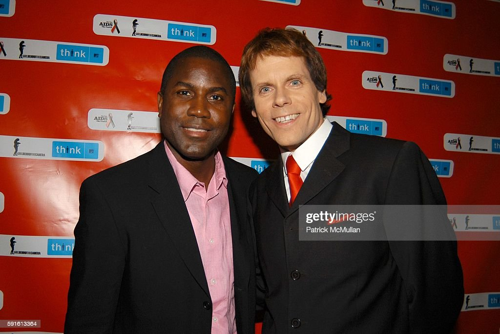 Ian Rowe and John Norris attend New York AIDS Film Festival Red Ball Opening Gala at Paramount Screening Room MTV TRL Studios on December 1 2005 in...