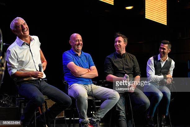 Ian Rush Gary McAllister Robbie Fowler and Luis Garcia attend the Liverpool FC Supporters Club LA Meet and Greet at Avalon on July 26 2016 in...