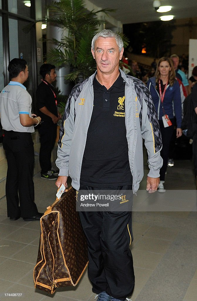 <a gi-track='captionPersonalityLinkClicked' href=/galleries/search?phrase=Ian+Rush&family=editorial&specificpeople=2107557 ng-click='$event.stopPropagation()'>Ian Rush</a> of Liverpool arrives in Bangkok for a stop on the club's Pre-Season tour on July 25, 2013 in Bangkok, Thailand.