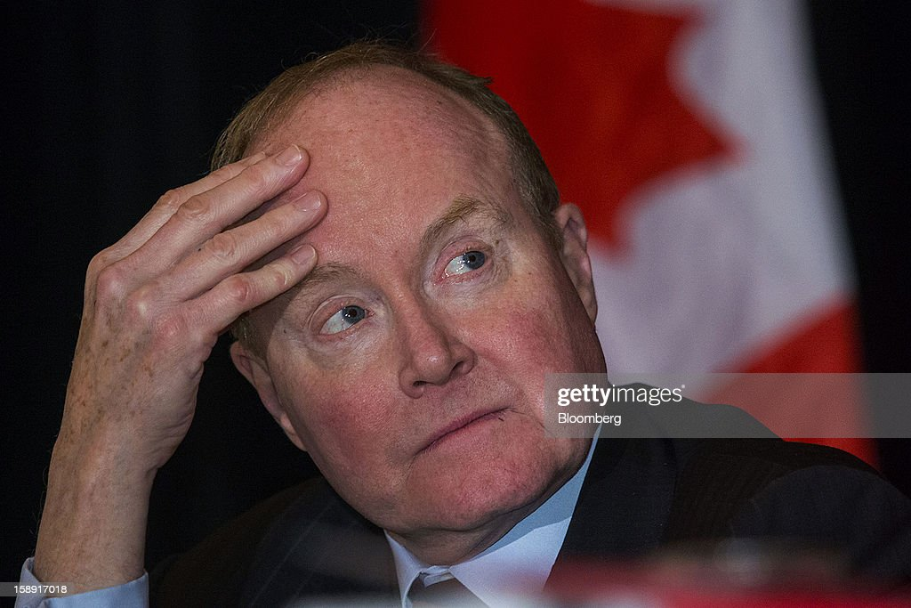 Ian Russell, president and chief executive officer of the Investment Industry Association of Canada, listens during an event discussing Canada's economic outlook at the Empire Club of Canada in Toronto, Ontario, Canada, on Thursday, Jan. 3, 2013. The Canadian dollar fell the most in almost two weeks against its U.S. counterpart after the U.S. central bank revealed it may end monetary stimulus as early as this year, allowing the currency to appreciate.Photographer: Norm Betts/Bloomberg via Getty Images