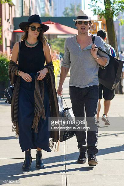 Ian Somerhalder and Nikki Reed are seen on October 12 2015 in New York City