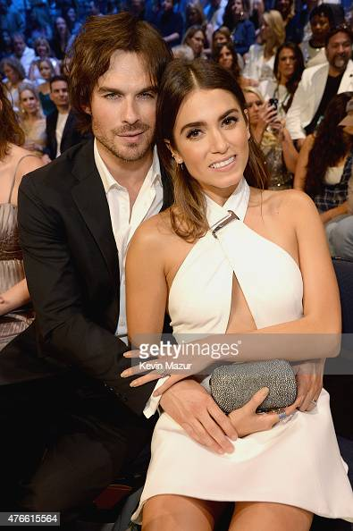 Ian Somerhalder and Nikki Reed attend the 2015 CMT Music awards at the Bridgestone Arena on June 10 2015 in Nashville Tennessee