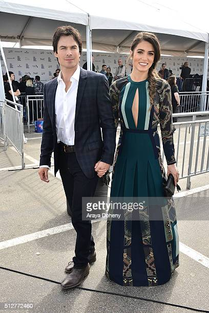 Ian Somerhalder and Nikki Reed attend the 2016 Film Independent Spirit Awards on February 27 2016 in Santa Monica California