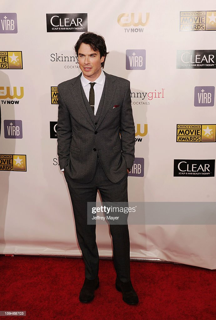 Ian Somerhalder arrives at the 18th Annual Critics' Choice Movie Awards at The Barker Hanger on January 10, 2013 in Santa Monica, California.
