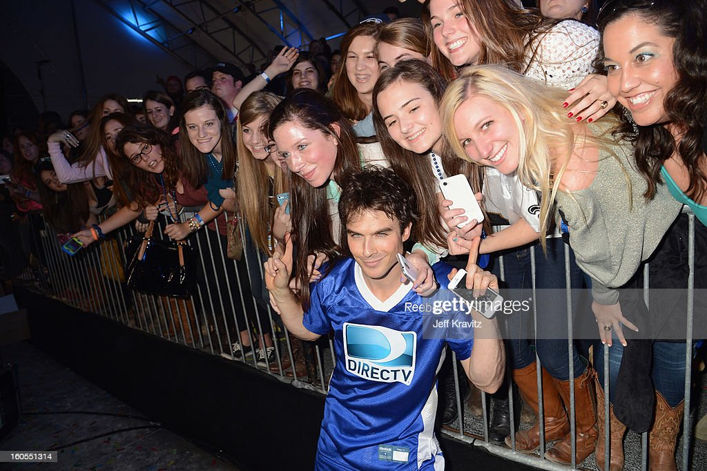 Ian Somerhalder attends DIRECTV'S 7th Annual Celebrity Beach Bowl at DTV SuperFan Stadium at Mardi Gras World on February 2, 2013 in New Orleans, Louisiana.
