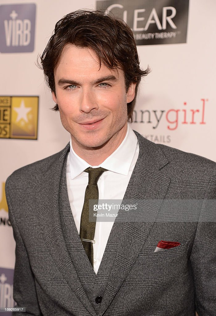 <a gi-track='captionPersonalityLinkClicked' href=/galleries/search?phrase=Ian+Somerhalder&family=editorial&specificpeople=614226 ng-click='$event.stopPropagation()'>Ian Somerhalder</a> attends the 18th Annual Critics' Choice Movie Awards at The Barker Hanger on January 10, 2013 in Santa Monica, California.