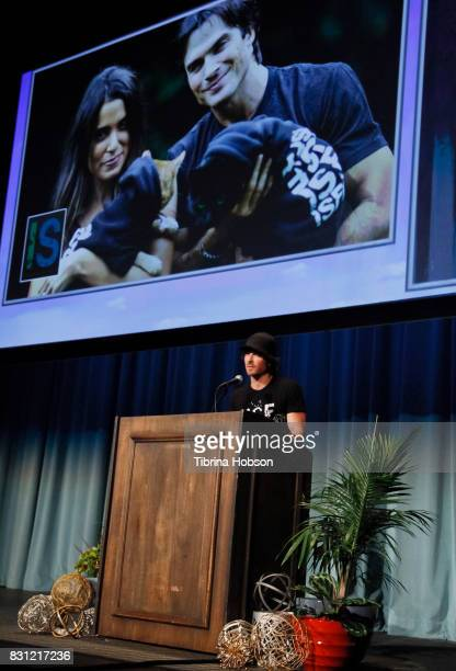Ian Somerhalder attends the 1st Annual CatCon Awards Show at the 3rd Annual CatCon at Pasadena Convention Center on August 13 2017 in Pasadena...