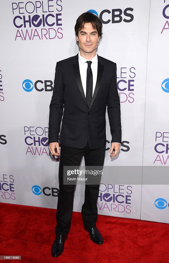 <a gi-track='captionPersonalityLinkClicked' href=/galleries/search?phrase=Ian+Somerhalder&family=editorial&specificpeople=614226 ng-click='$event.stopPropagation()'>Ian Somerhalder</a> attends the 2013 People's Choice Awards at Nokia Theatre L.A. Live on January 9, 2013 in Los Angeles, California.