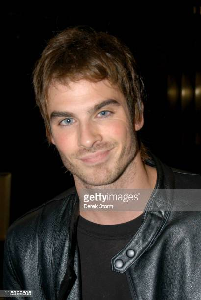 Ian Somerhalder during Ian Somerhalder Enters 'Last Call with Carson Daly' Studios January 4 2005 at NBC Studios in New York City New York United...