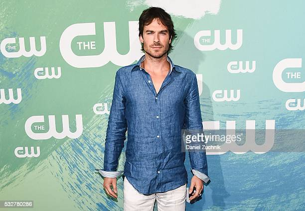 Ian Somerhalder of the series 'The Vampire Diaries' attends The CW Network's 2016 New York Upfront at The London Hotel on May 19 2016 in New York City