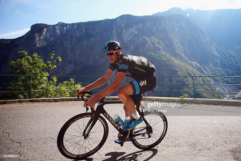 <a gi-track='captionPersonalityLinkClicked' href=/galleries/search?phrase=Ian+Stannard&family=editorial&specificpeople=3472614 ng-click='$event.stopPropagation()'>Ian Stannard</a> of Great Britain and Team Sky in action during Stage Eighteen of the 2015 Tour de France, a 186.5km stage between Gap and Saint-Jean-de-Maurienne on July 23, 2015 in Gap, France.