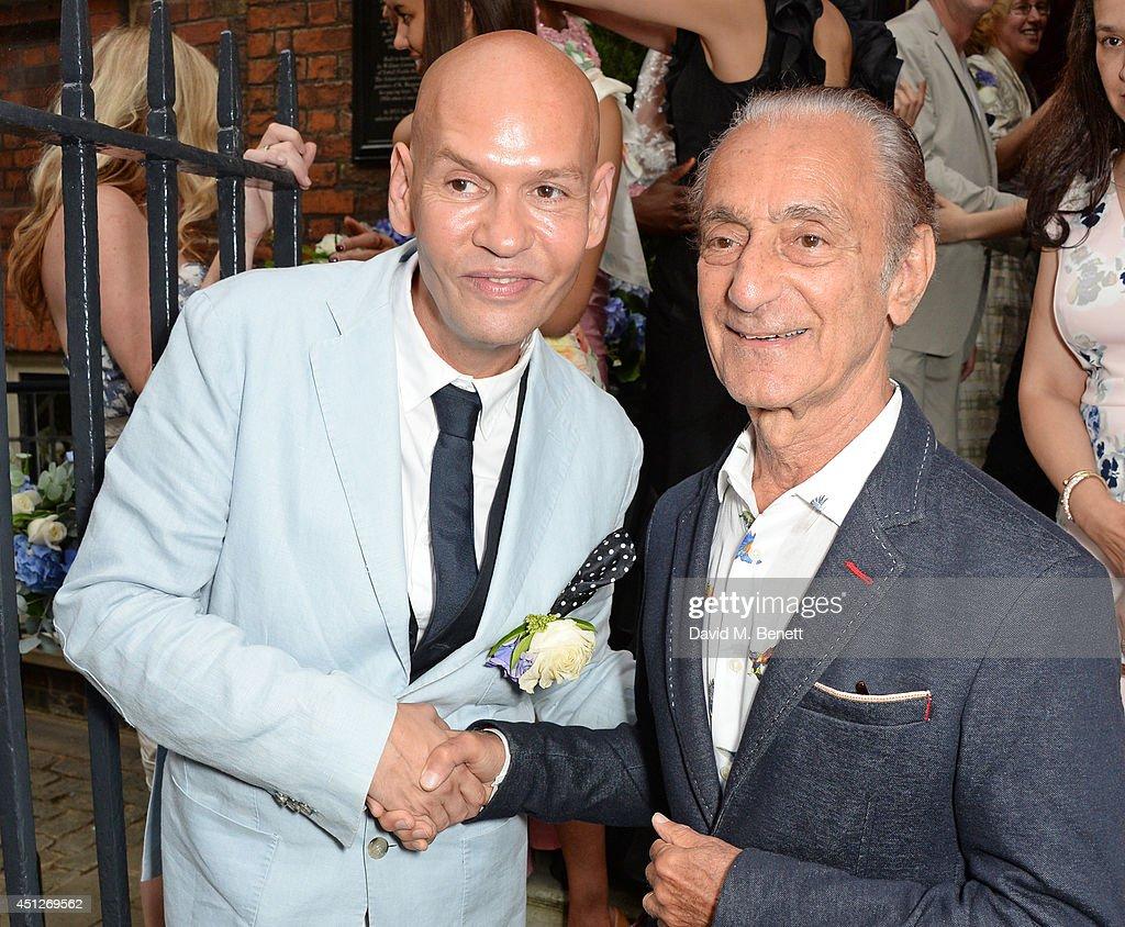 Ian Stuart Blewcoat (L) and David Sassoon attend the Ian Stuart Blewcoat store opening on June 26, 2014 in London, England.