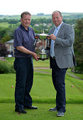Ian Taylor of Drumpellier Golf Club with his playing partner Hugh McIntyre after winning the PGA National ProAm Qualifiers Scotland at Cawder Golf...