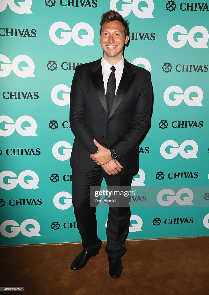 <a gi-track='captionPersonalityLinkClicked' href=/galleries/search?phrase=Ian+Thorpe&family=editorial&specificpeople=162699 ng-click='$event.stopPropagation()'>Ian Thorpe</a> arrives for the GQ Men Of The Year Awards 2014 at The Ivy on November 19, 2014 in Sydney, Australia.