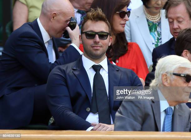 Ian Thorpe in the Royal Box on Centre Court during day eleven of the Wimbledon Championships at the All England Lawn Tennis and Croquet Club Wimbledon