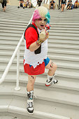 Ian Turner dresses as Harley Quinn at ComicCon International Day 3 on July 22 2016 in San Diego California