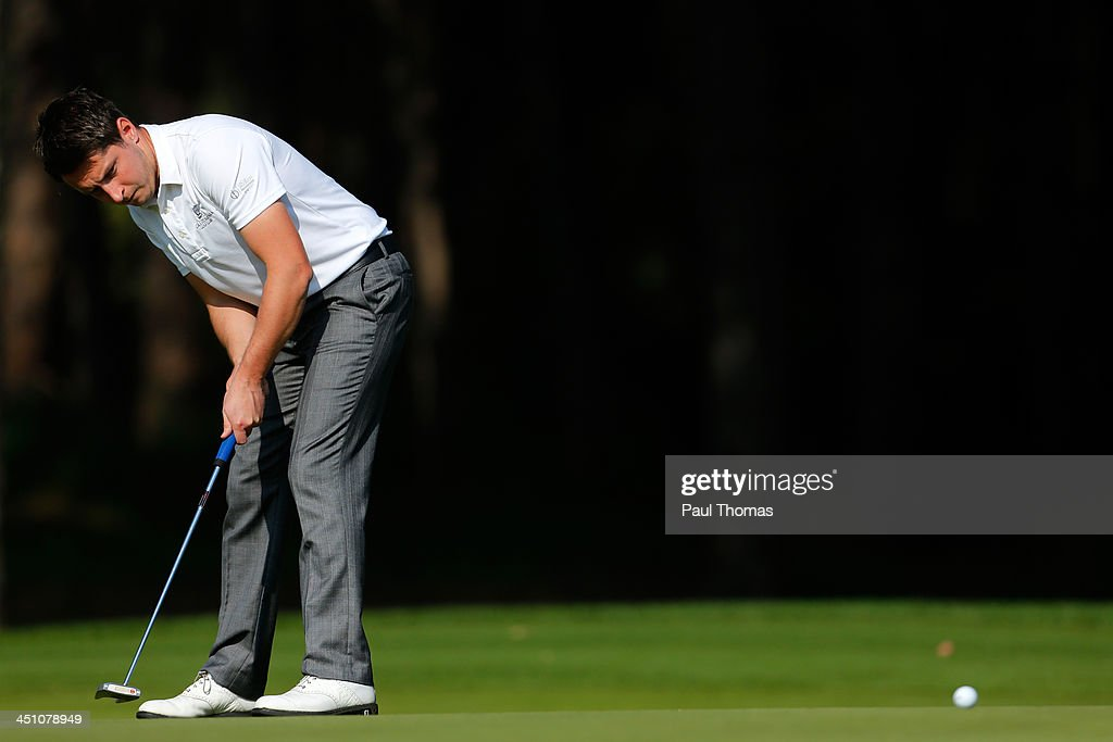Ian Walley of Kedleston Park Golf Club putts on the PGA Sultan Course during day one of The Golfplan Insurance Pro Captain Challenge final at Antalya Golf Club on November 21, 2013 in Antalya, Turkey.