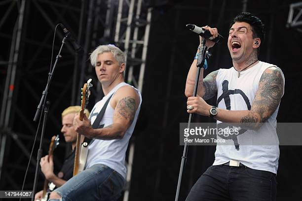 Ian Watkins and Stuart Richardson of Lostprophets perform at the 2012 Heineken Jammin Festival on July 6 2012 in Milan Italy