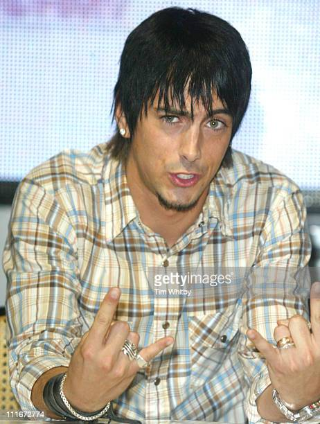 Ian Watkins from The Lost Prophets during The Lost Prophets Album Signing At HMV at HMV Oxford Street in London Great Britain