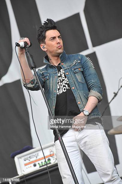 Ian Watkins of Lost Prophets live on stage at Reading Festival on August 27 2010