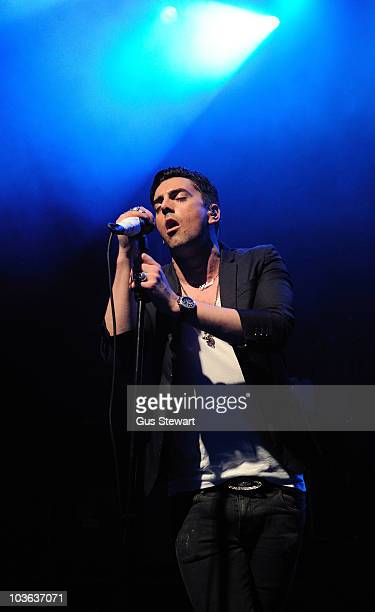 Ian Watkins of Lost Prophets performs on stage at Shepherds Bush Empire on August 25 2010 in London England