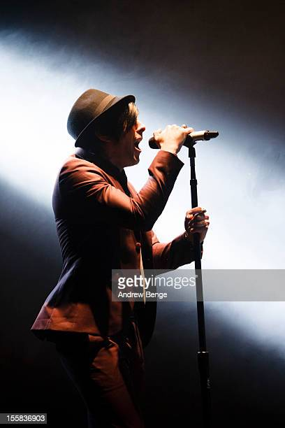 Ian Watkins of Lostprophets performs at Manchester Apollo on November 8 2012 in Manchester England