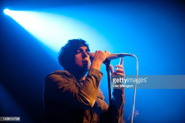 Ian Watkins of Lostprophets performs during the Weapons tour on stage at Rock City on April 30 2012 in Nottingham United Kingdom