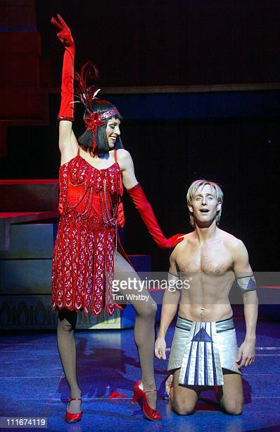 Ian Watkins with Paulina Doncel during H Makes his West End Debut in 'Joseph and the Amazing Technicolor Dreamcoat' at The New London Theatre in...