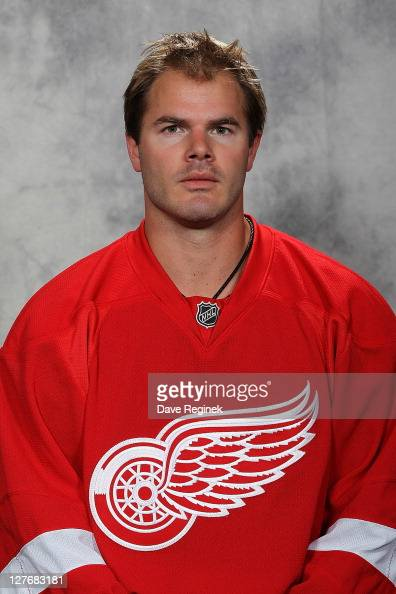 Ian White of the Detroit Red Wings poses for his official headshot for the 20112012 season at Centre Ice Arena on September 16 2011 in Traverse City...